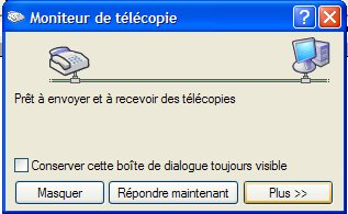 apercu des images et telecopie windows xp